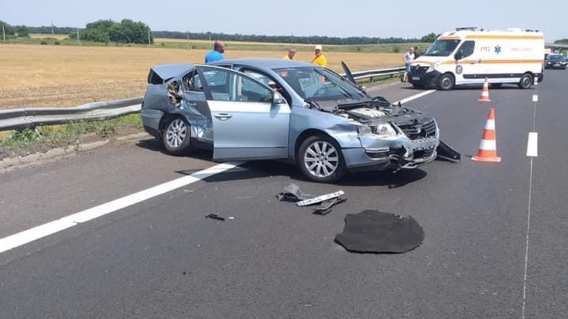 Accident grav pe Autostrada Soarelui