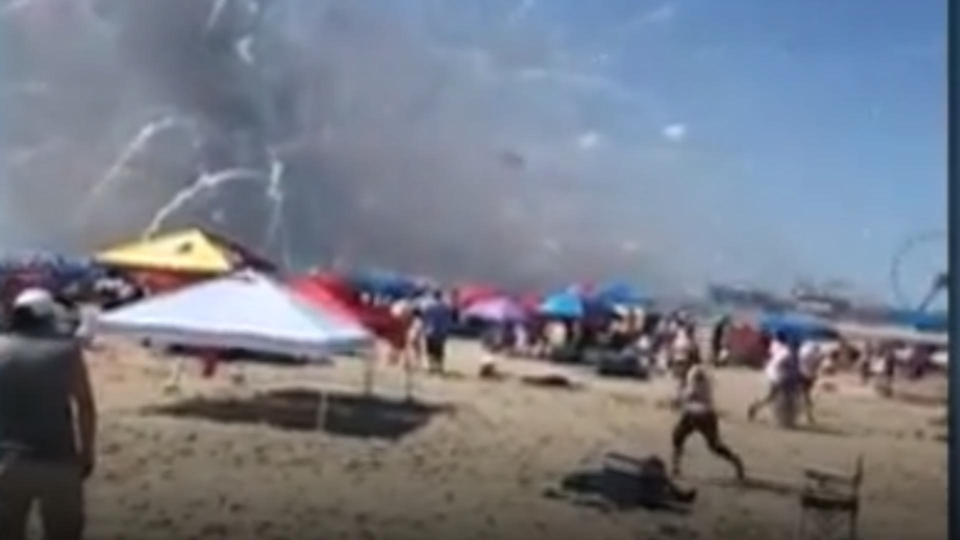 Explozie camion plajă SUA