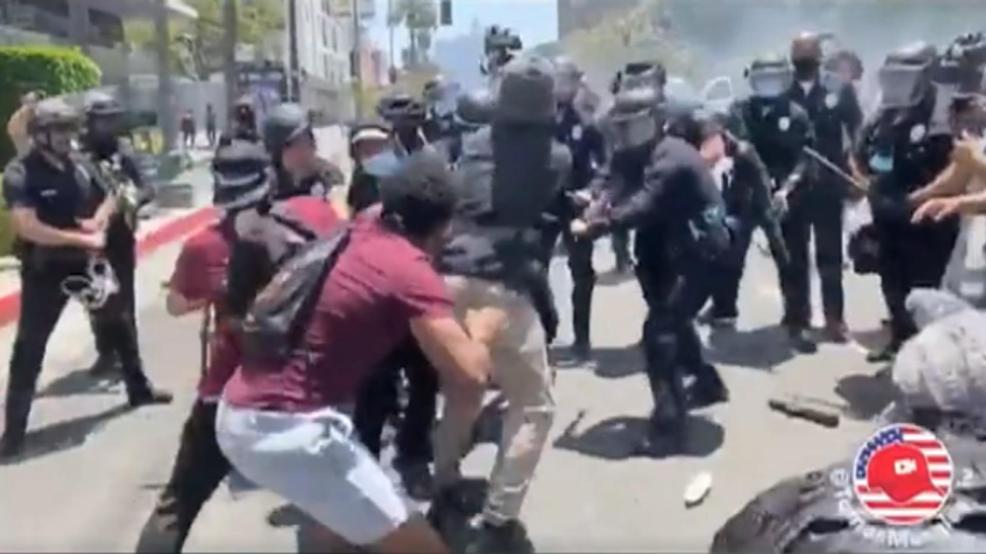Proteste violente LA