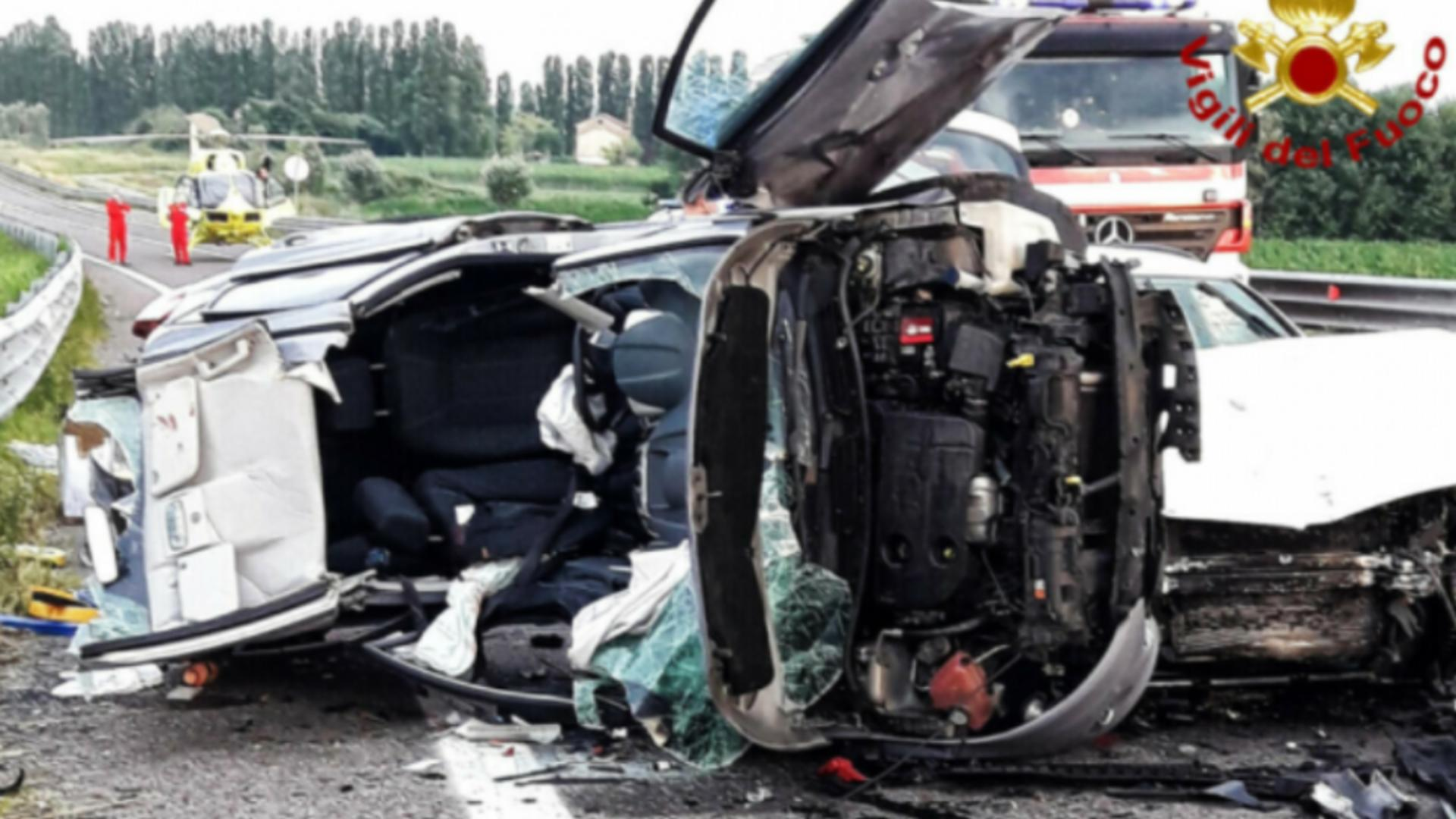 Accident familie de români Italia / Captură foto