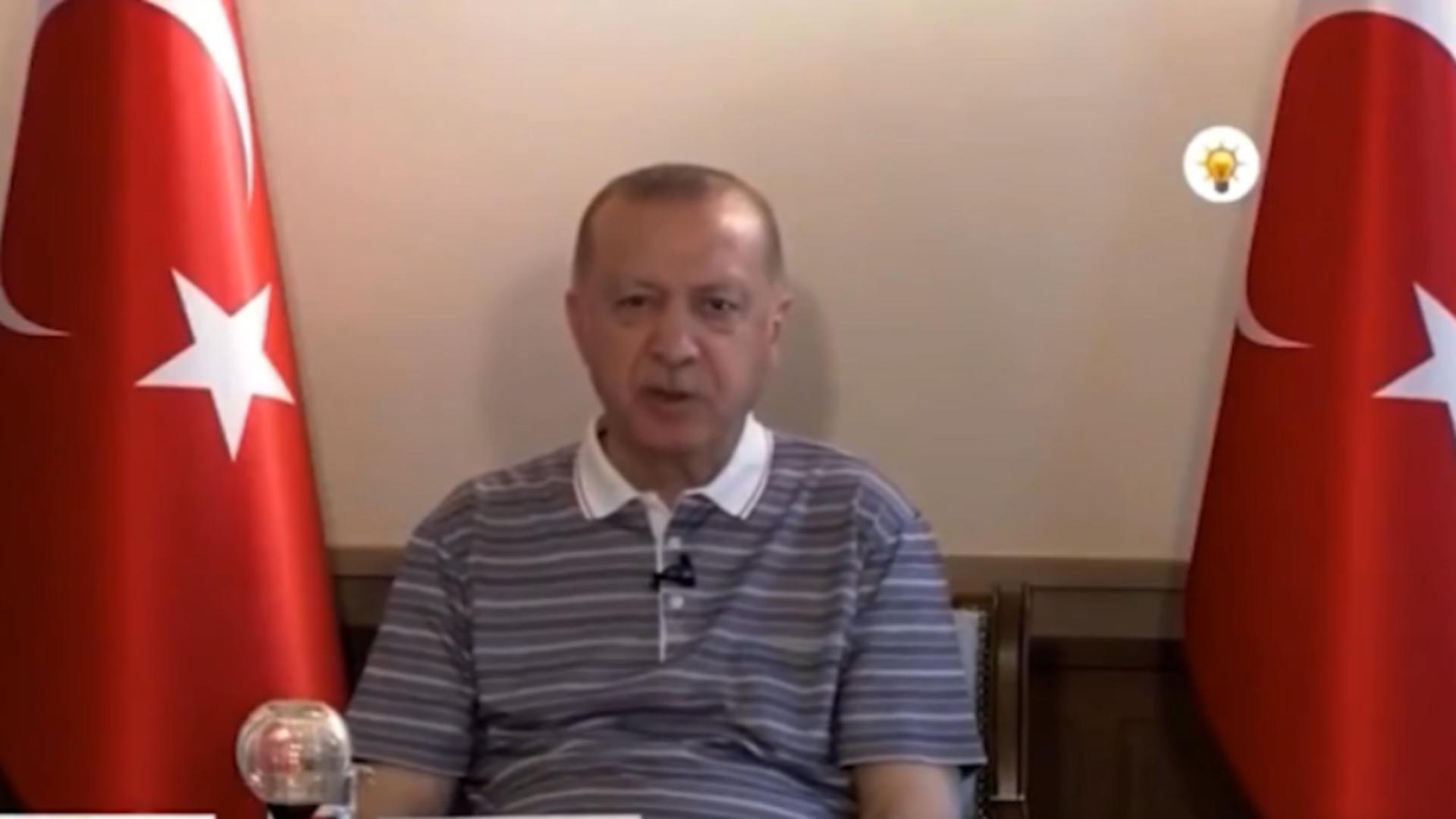 Preşedintele turc, Recep Tayyip Erdogan / Captură foto