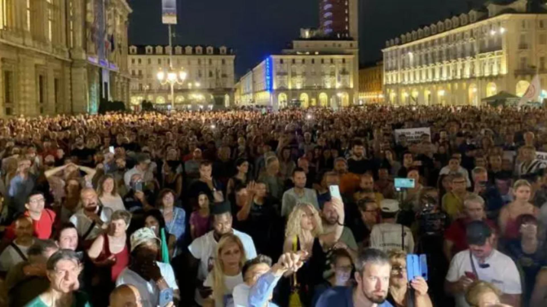 Proteste Italia / Captură foto