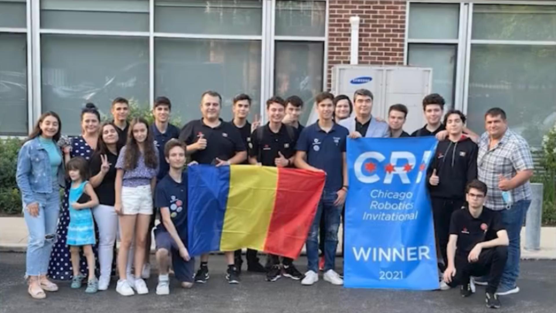 Echipa României de robotică / Captură foto