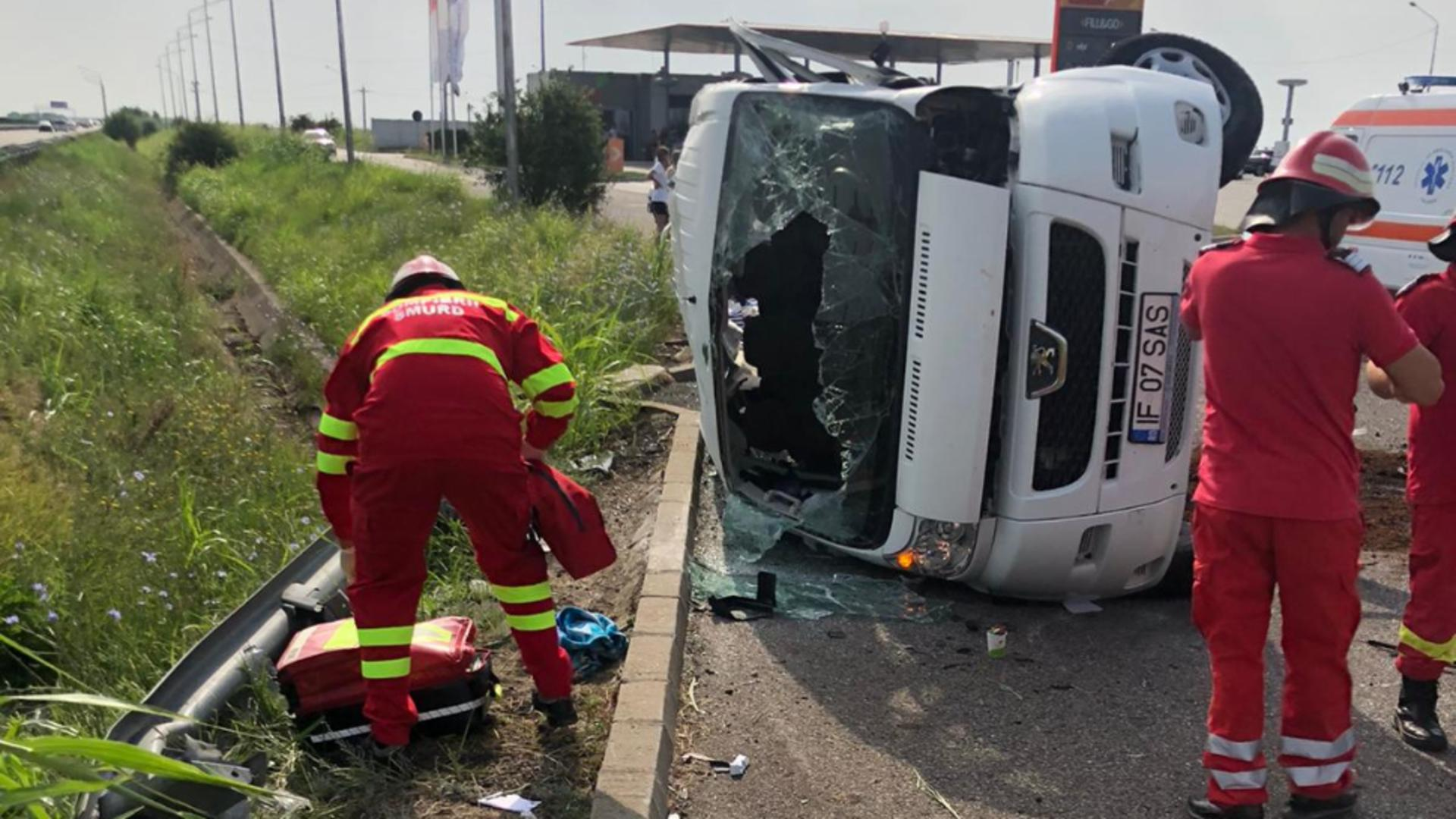 Grav accident, pe A2: 6 victime