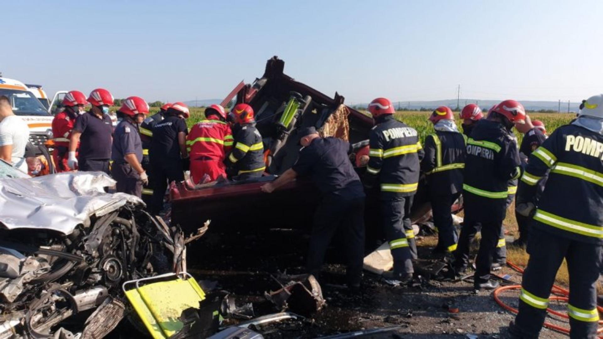 Accidentul teribil s-a produs pe E85