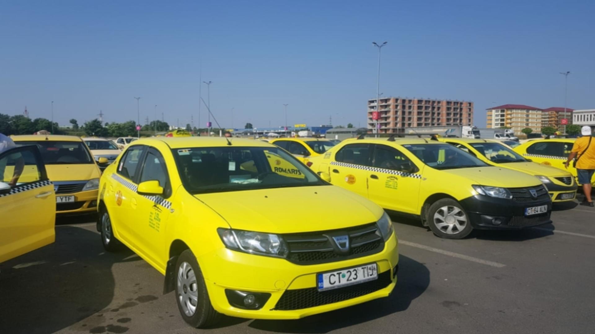 Taximetriștii protestează, astăzi, la Constanța