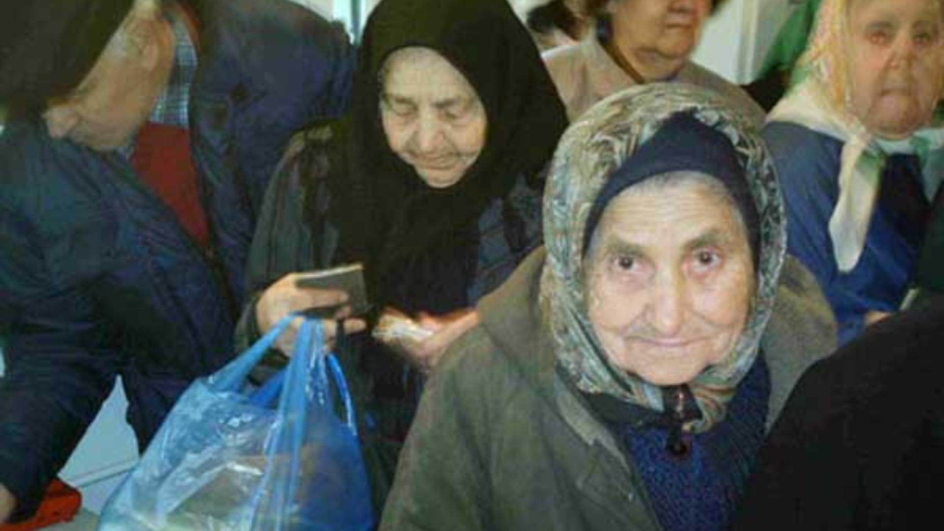Bătrâni cu posibilități reduse de trai