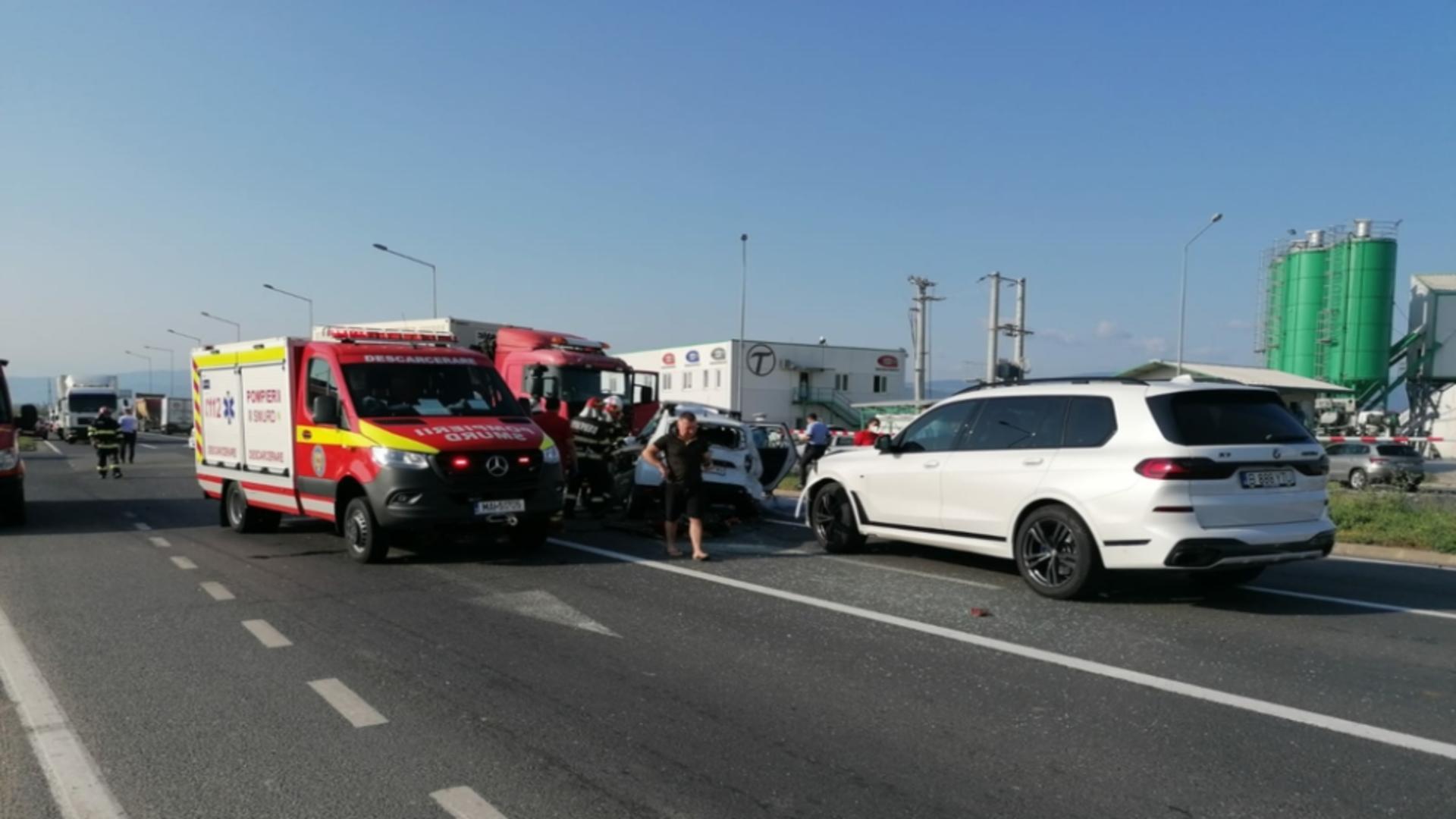 Tragedie, în Sibiu: accident cu 4 morți. Foto: Realitatea de Sibiu