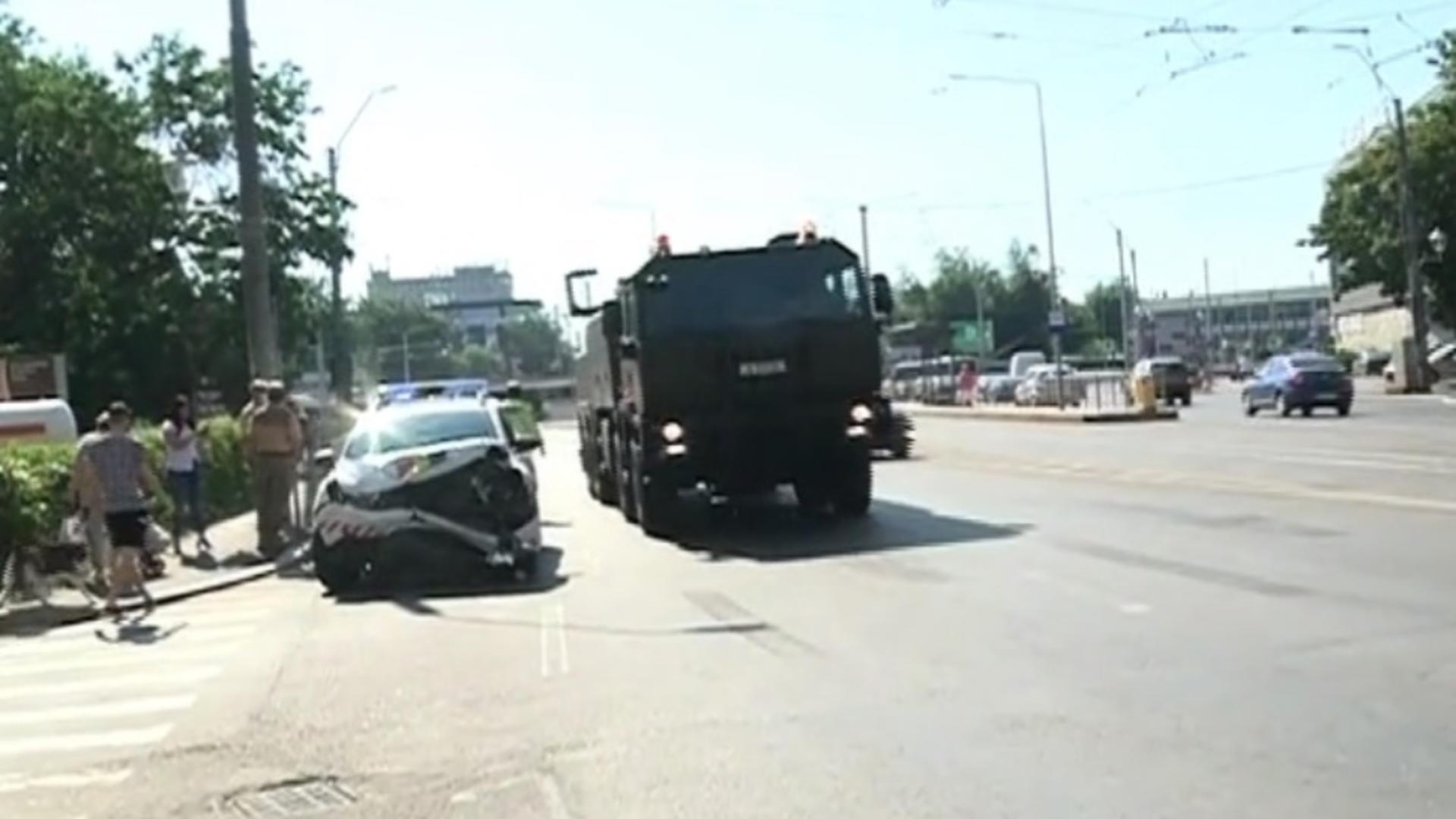 Accident cu un convoi al Armatei
