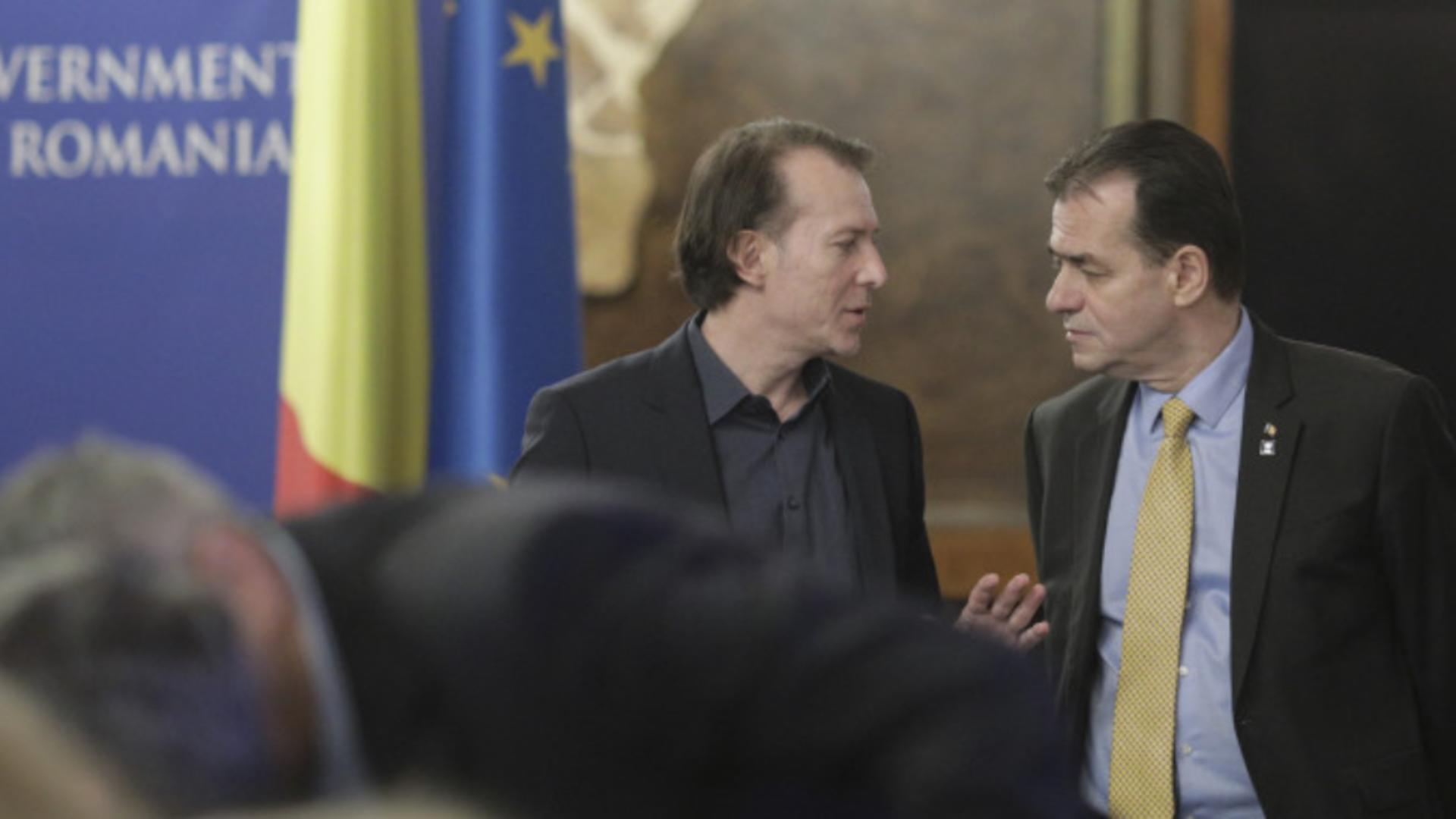 Florin Cîțu și Ludovic Orban, față în față la Cotroceni Foto: INQUAM/Octav Ganea/Presidency.ro