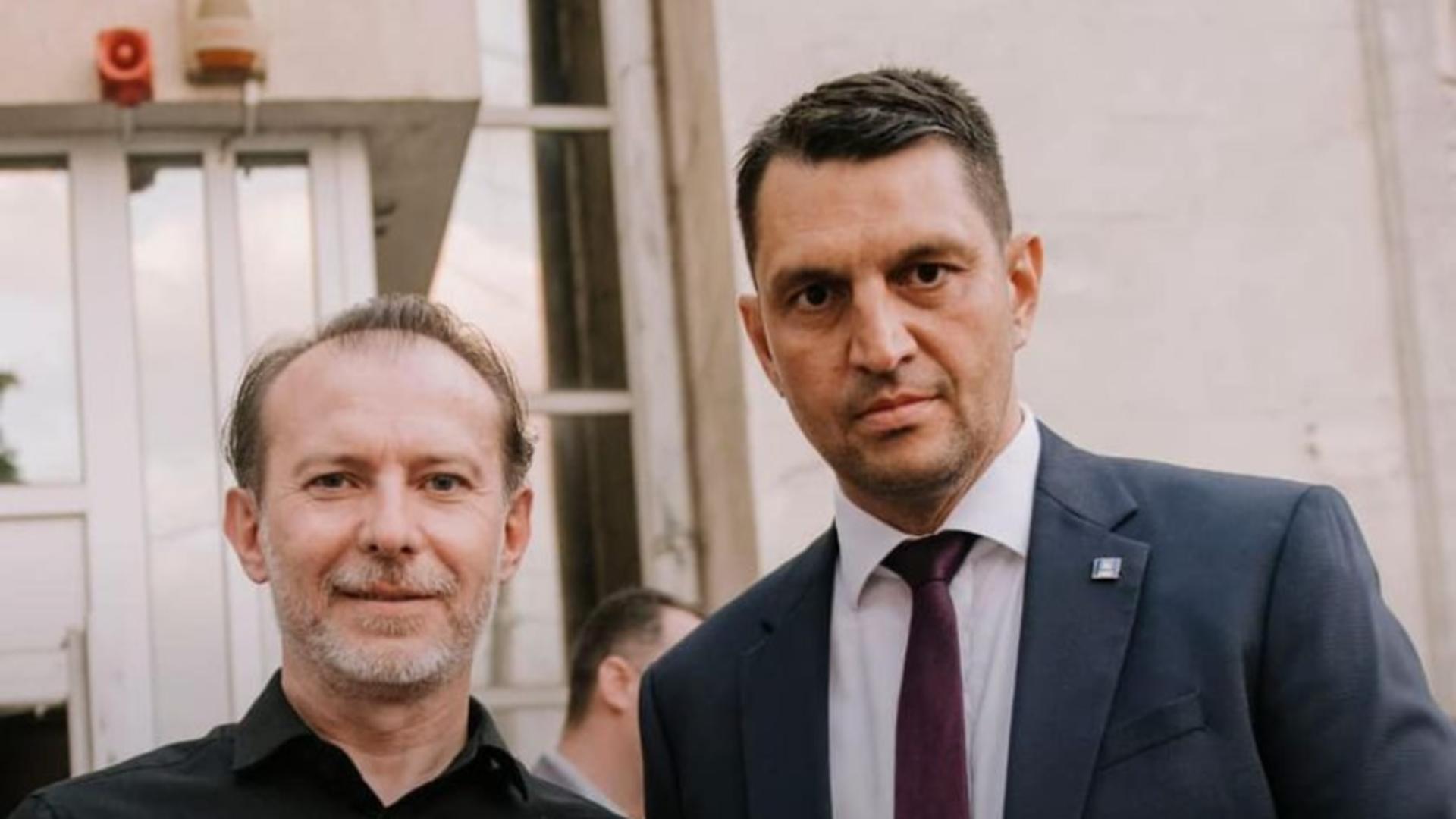 Florin Cîțu și Ștefan Stoica (PNL Dolj)