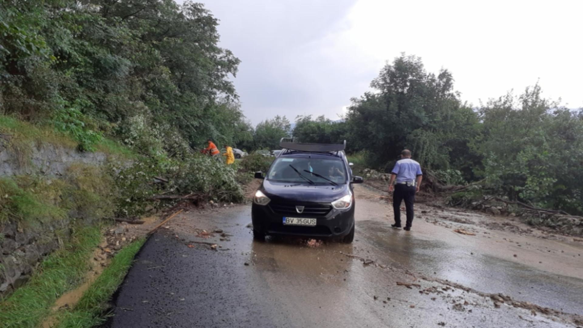 Drum blocat în Brașov