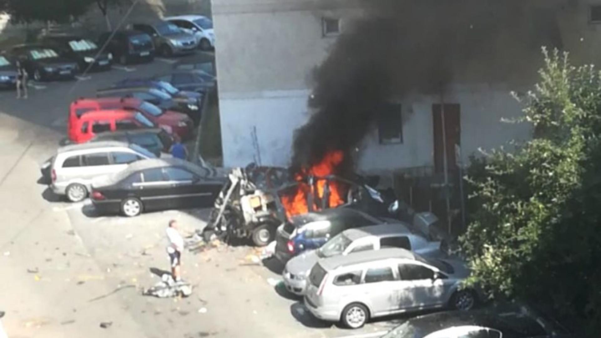 Explozie în Râmnicu Vâlcea
