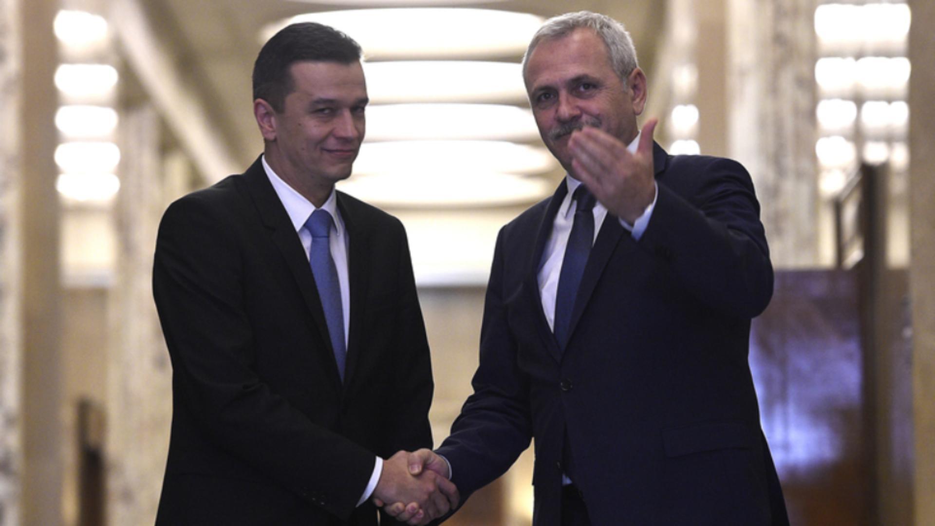 Sorin Grindeanu și Liviu Dragnea