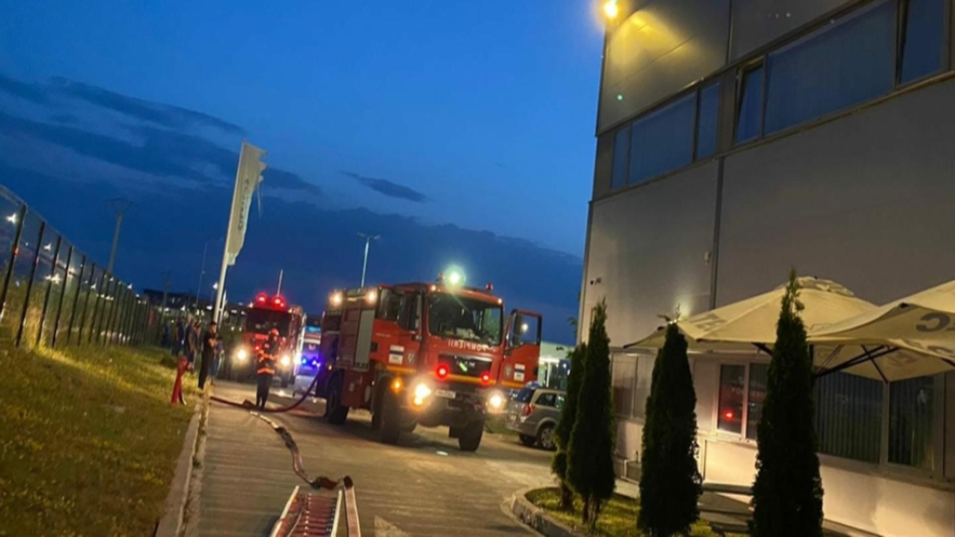 Incendiu fabrică Sibiu