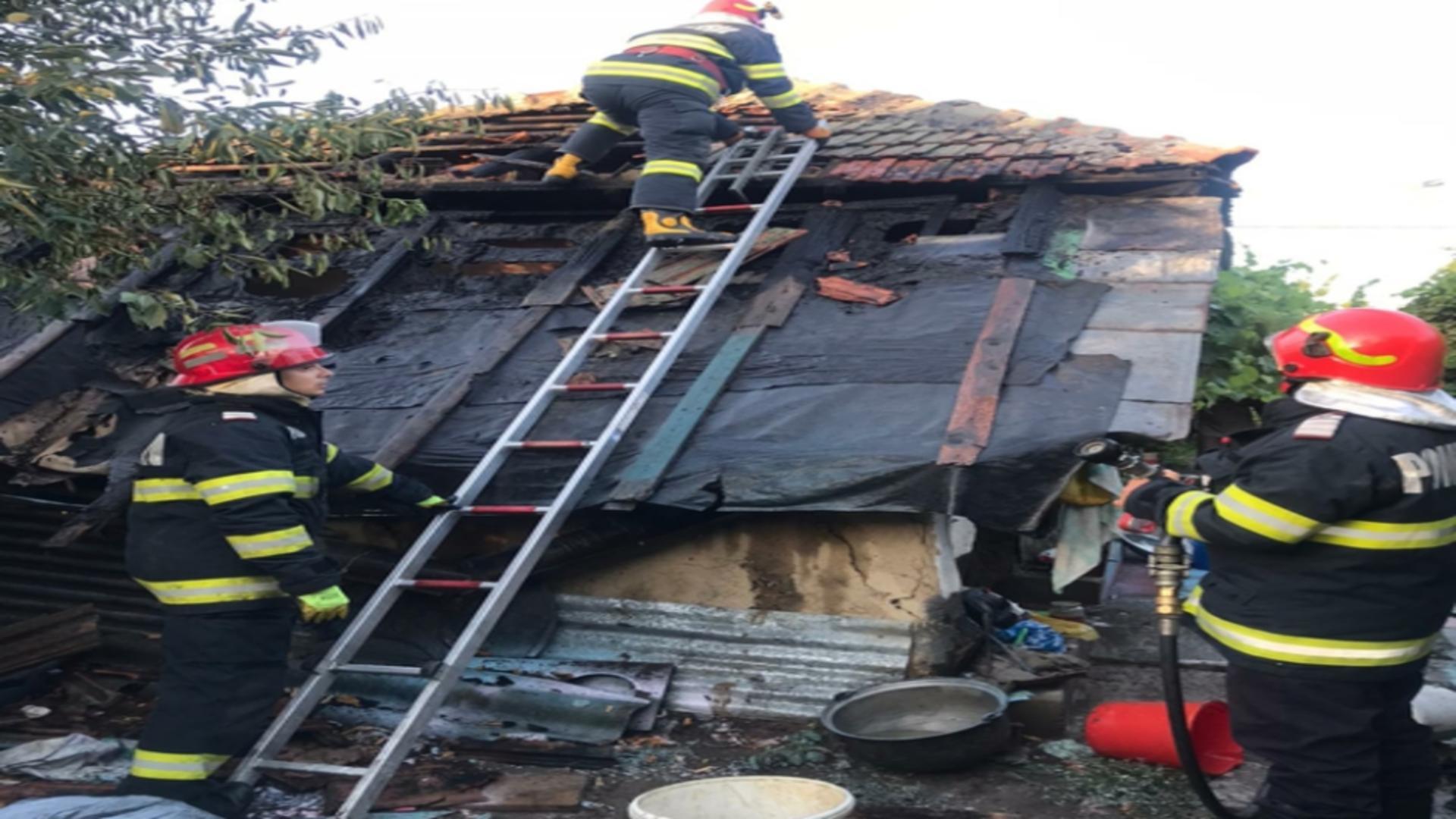 Incendiu locuință Ialomița