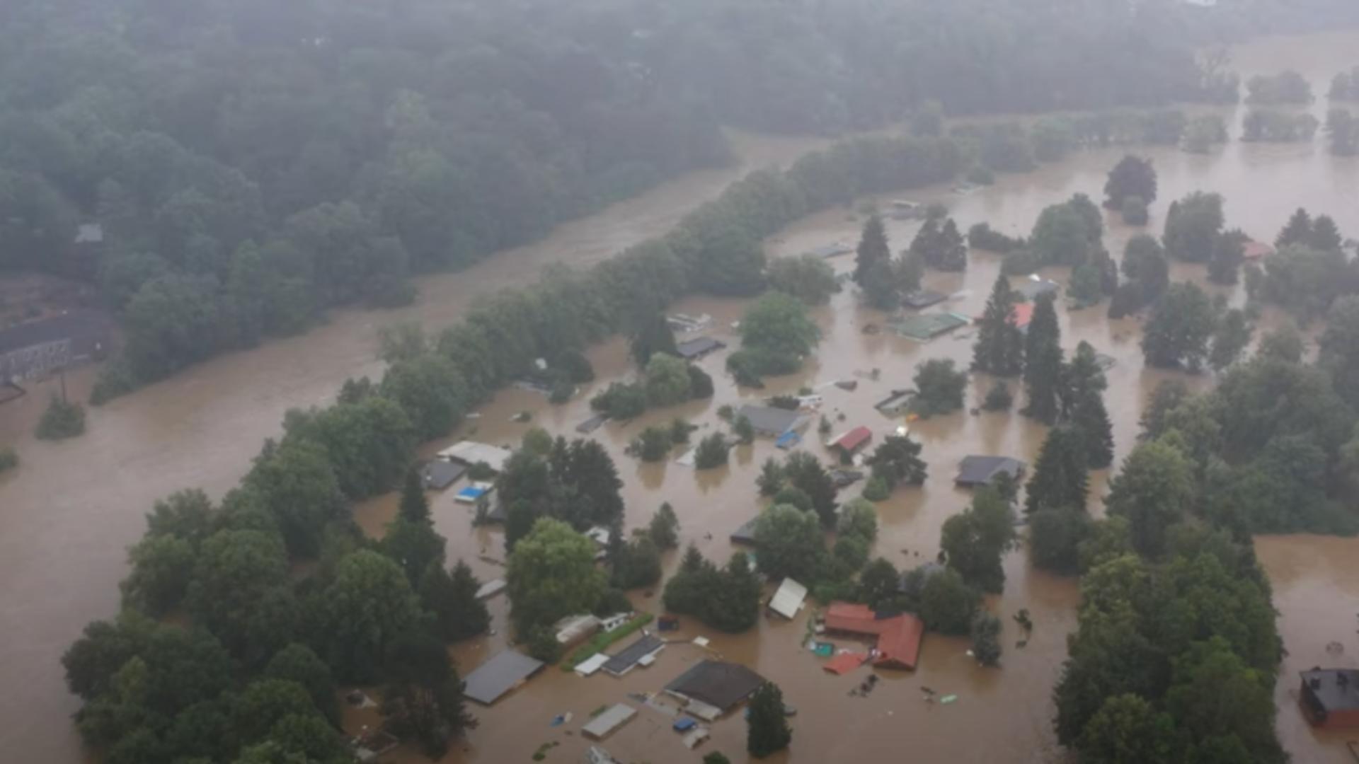 Inundații în Belgia. Foto: captură YouTube