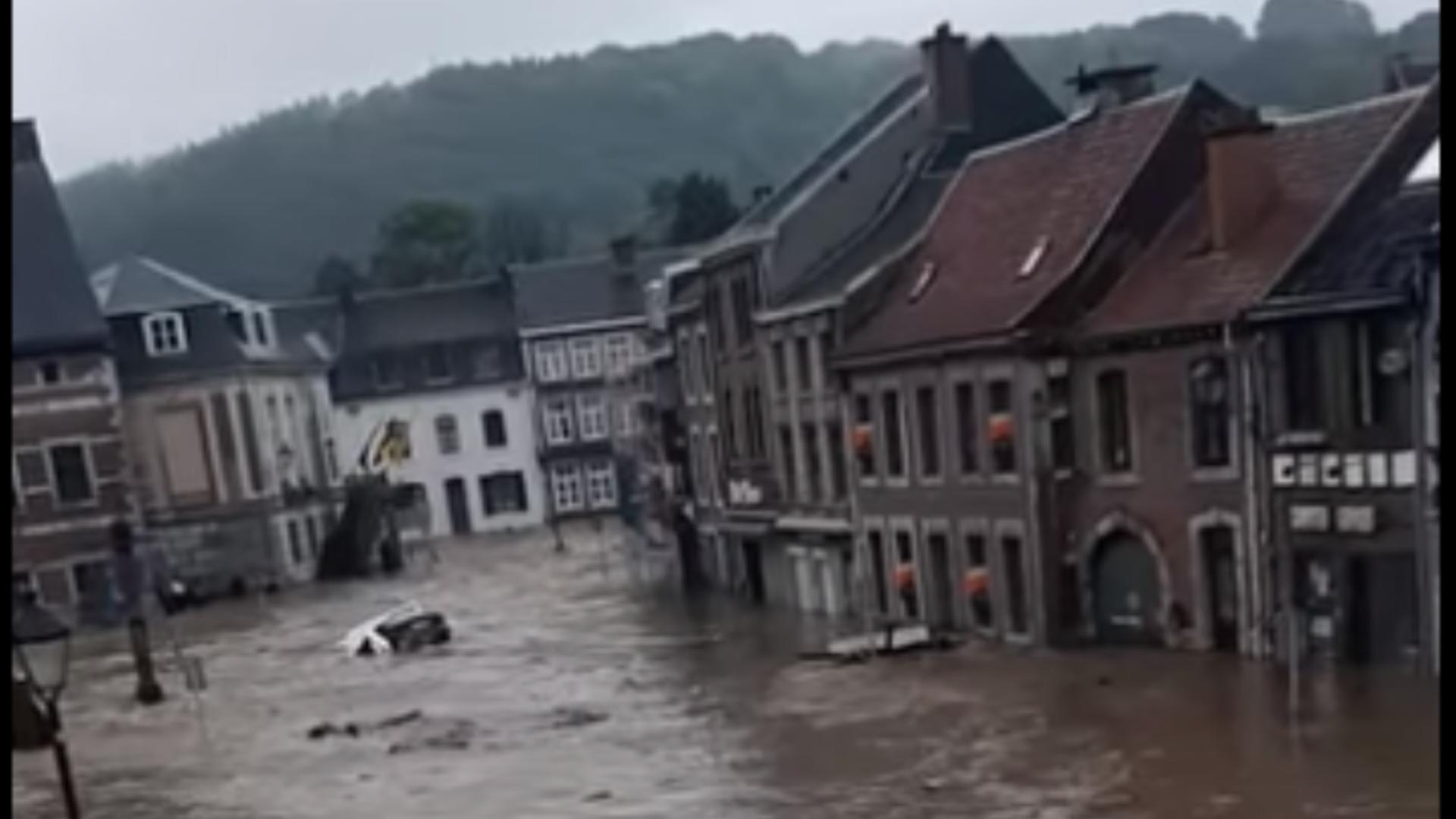 Inundații în Belgia. Foto: captură Facebook