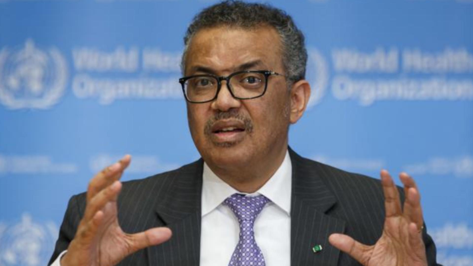 Directorul general al Organizației Mondiale a Sănătății, Tedros Adhanom Ghebreyesus