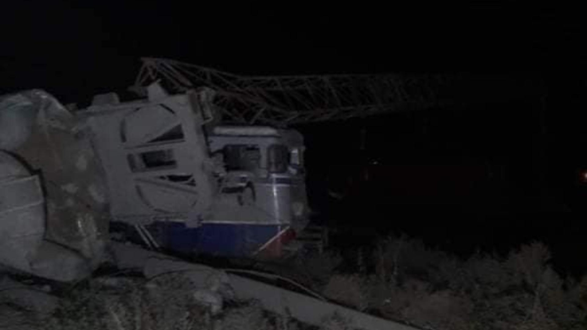 Locomotiva implicată în accidentul de la Fetesti