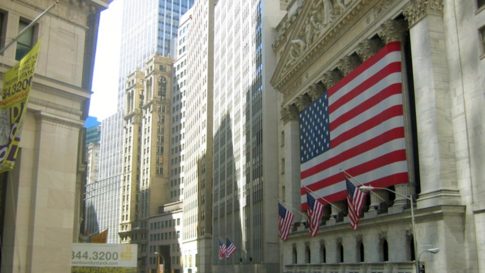 Wall Street, centrul financiar al Statelor Unite