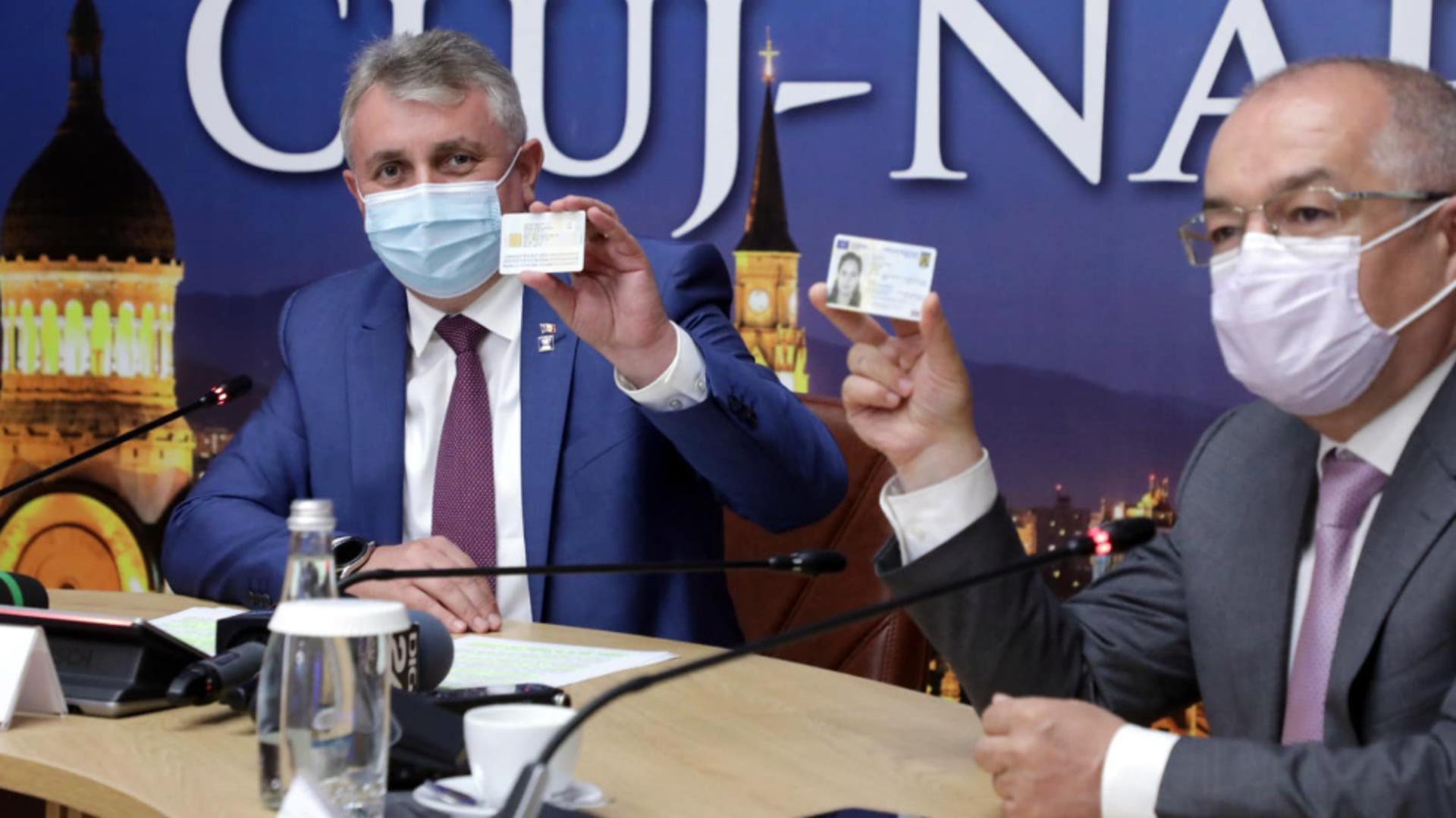 Ministrul de Interne, Lucian Bode, alături de primarul Clujului, Emil Boc / Foto: Facebook