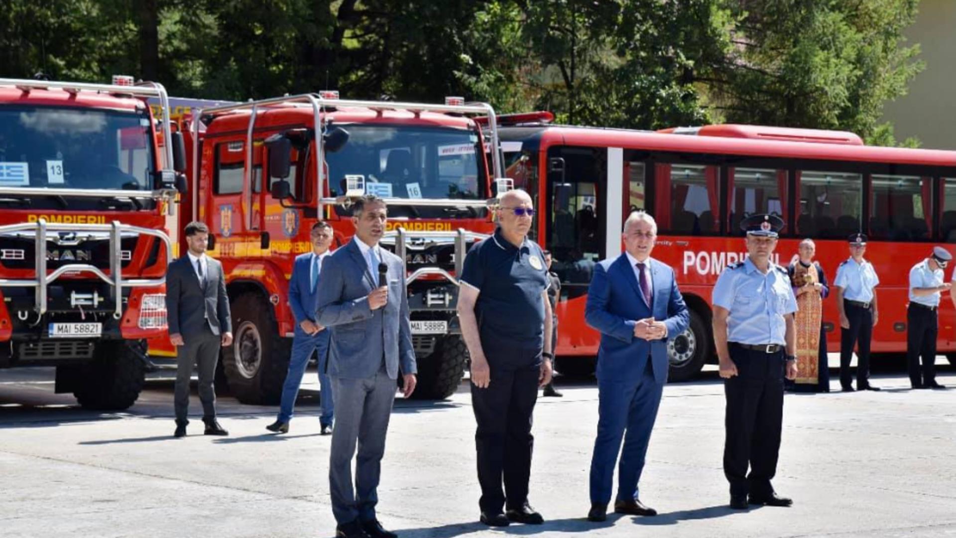 România a trimis și mai mulți pompieri în Grecia