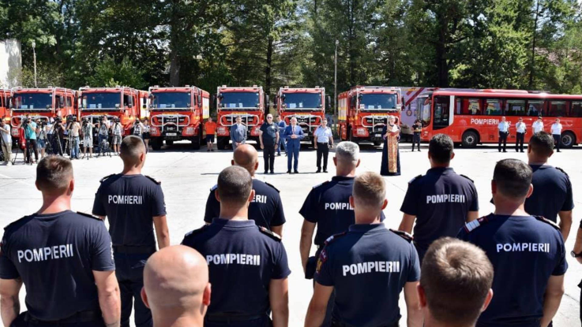 Pompierii români au plecat în Grecia