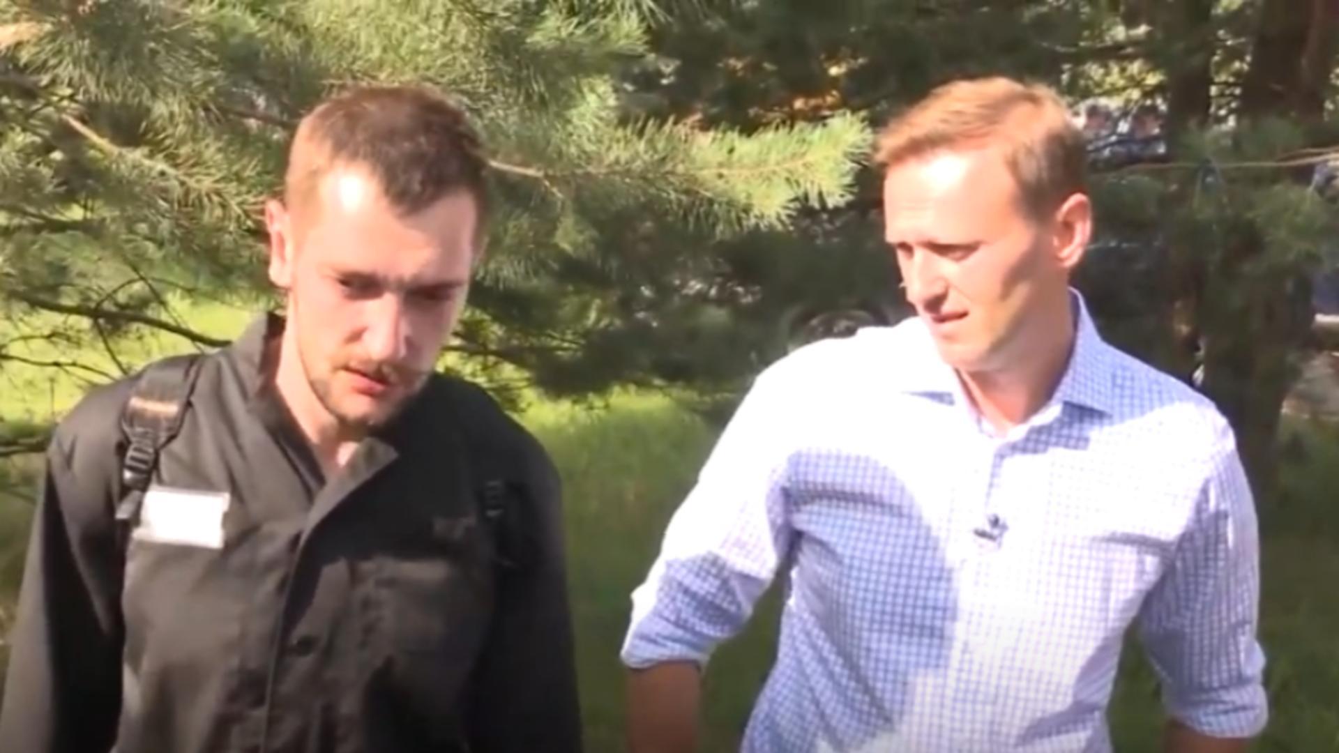 Oleg și Aleksei Navalnîi. Foto: captură YouTube
