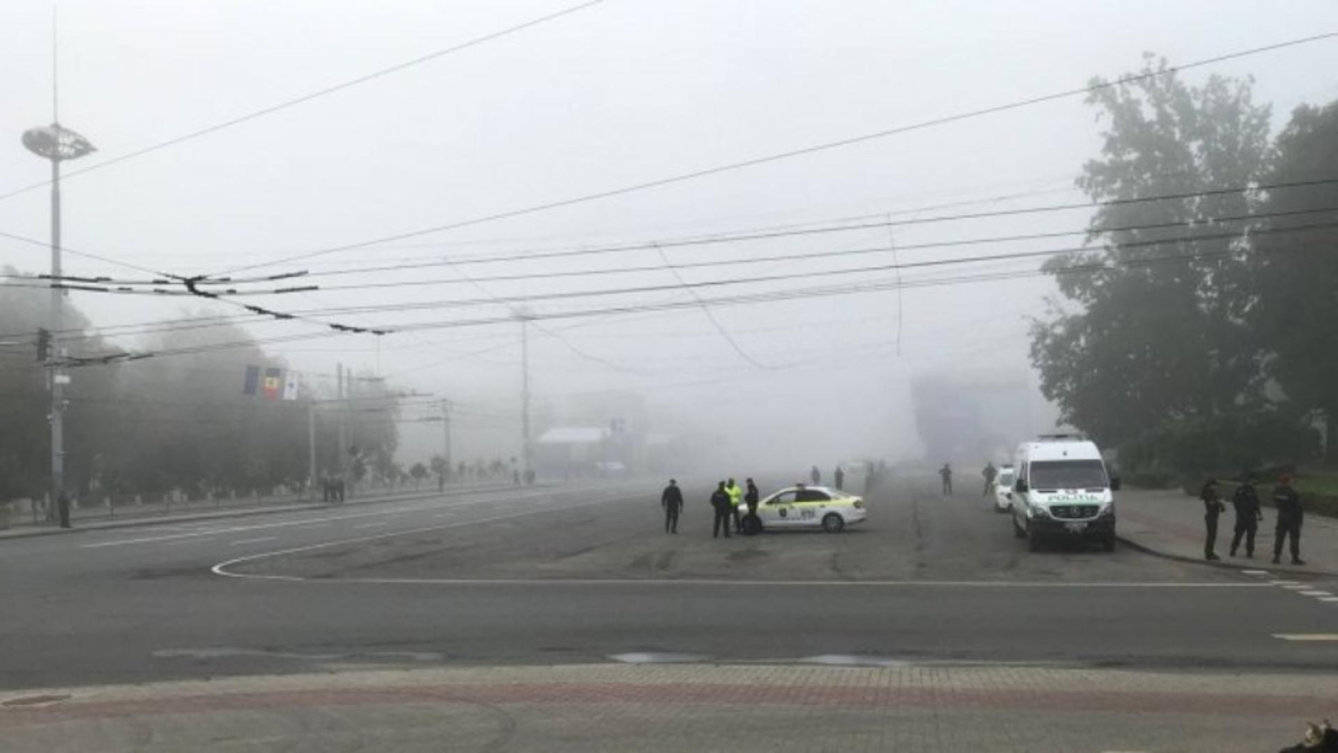 Ceață intensă la Chișinău (foto: Publika TV)