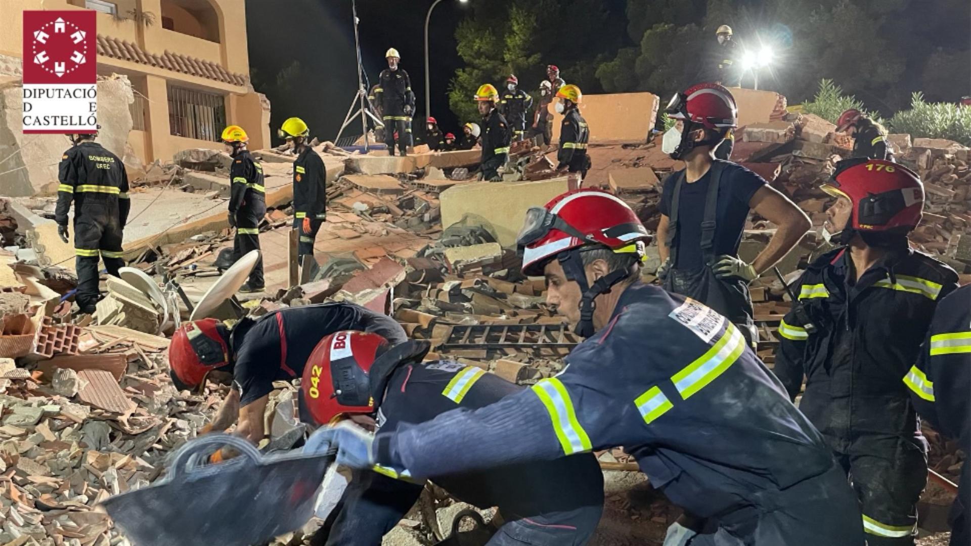 Clădire prăbușită Spania / Foto: Twitter CPBC