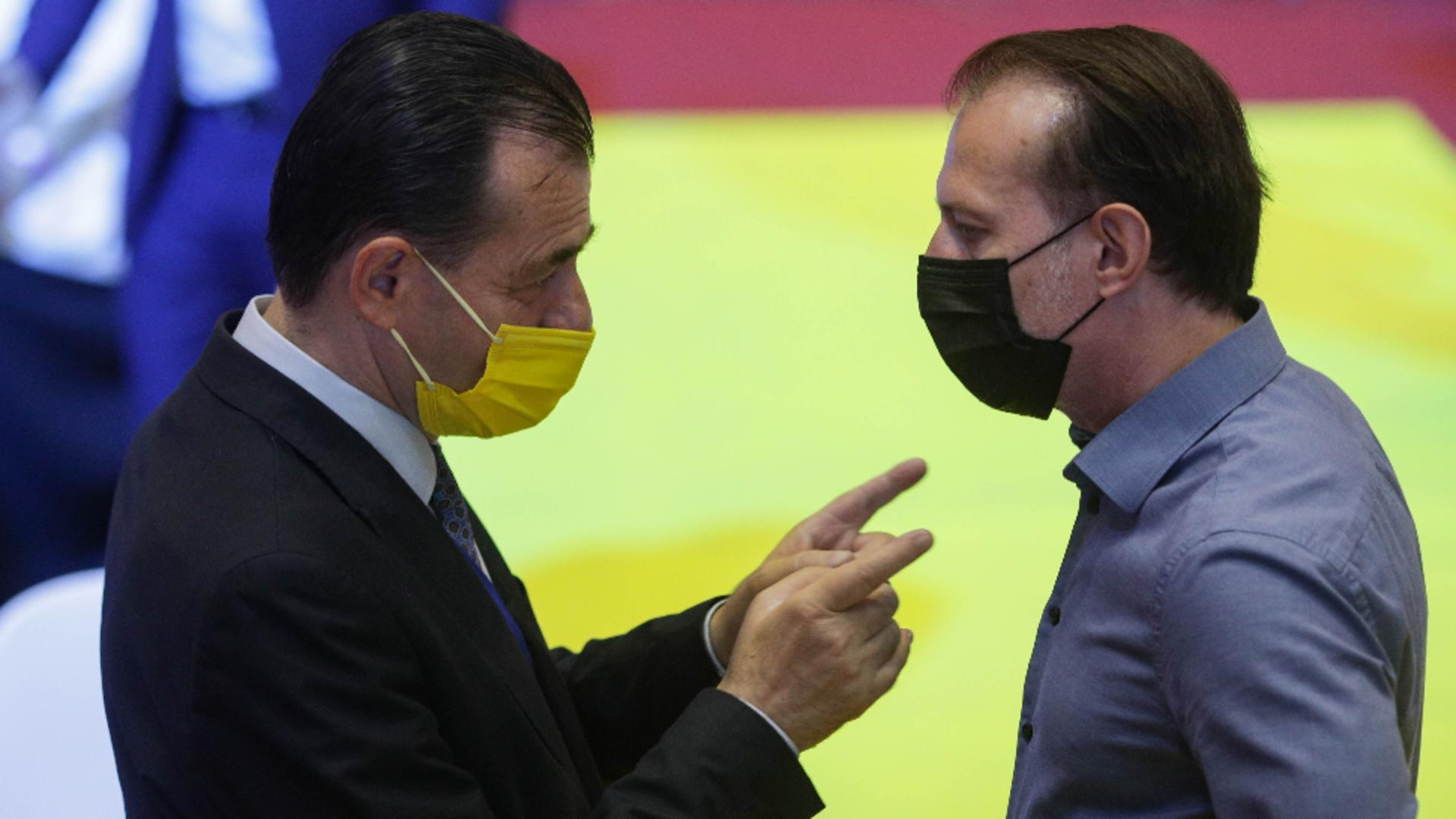 Ludovic Orban și Florin Cîțu. Foto: Inquam / Octav Ganea
