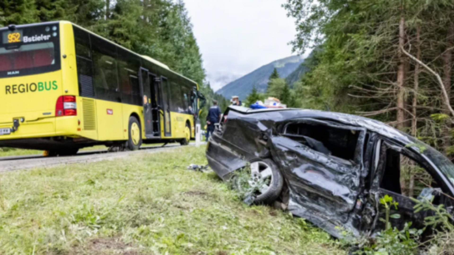 Accident mașină români  Austria / Captură foto Știri Diaspora