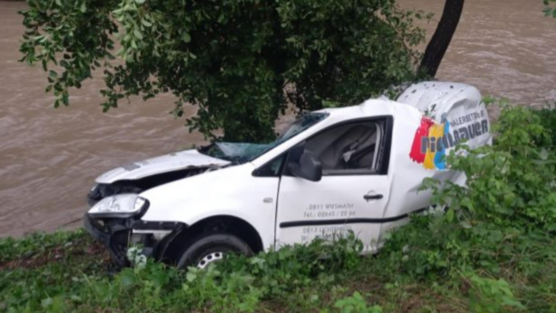 Accident Bistrța-Năsăud / Captură foto