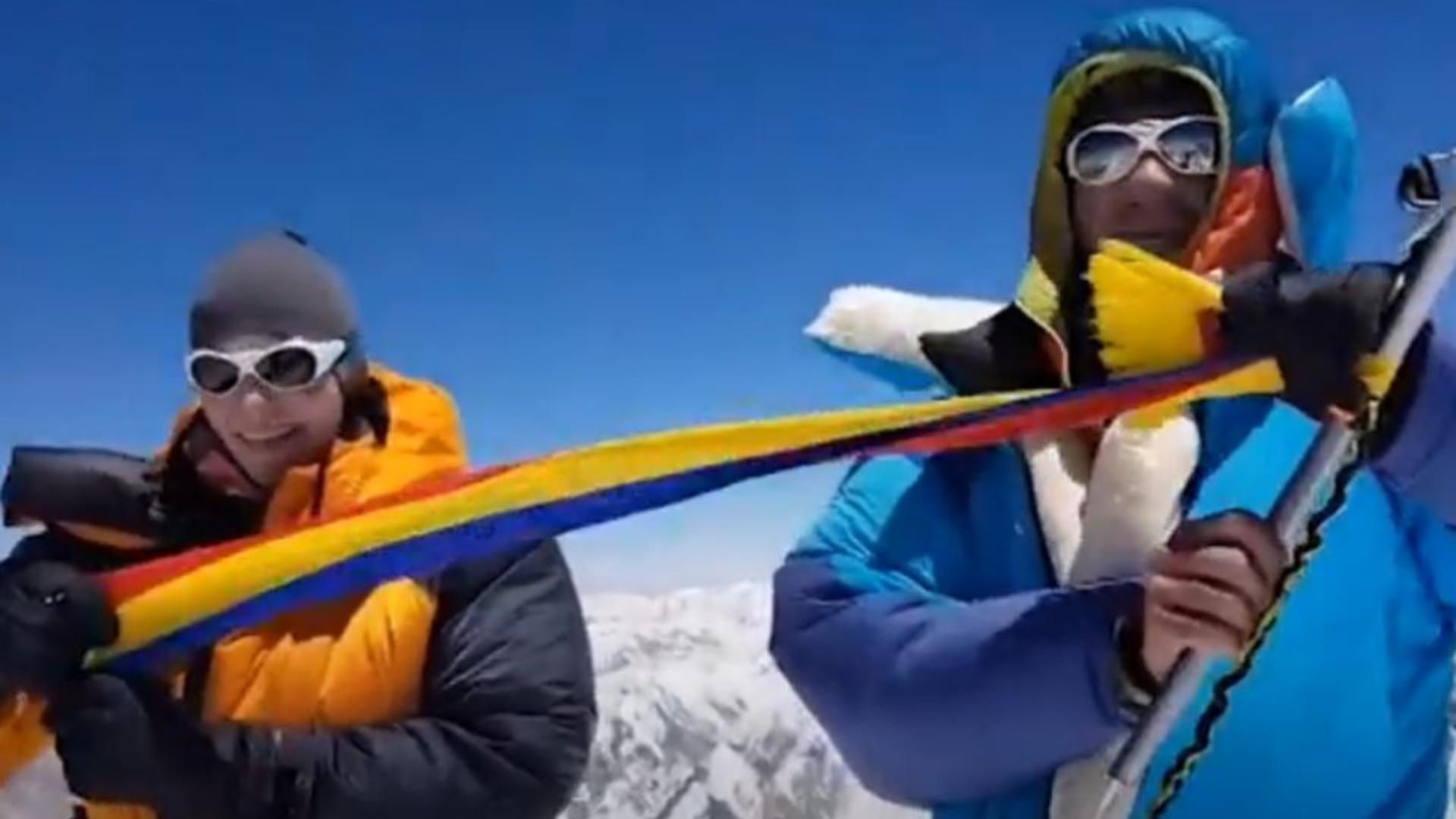 Alpiniști români de record. Foto/captură video
