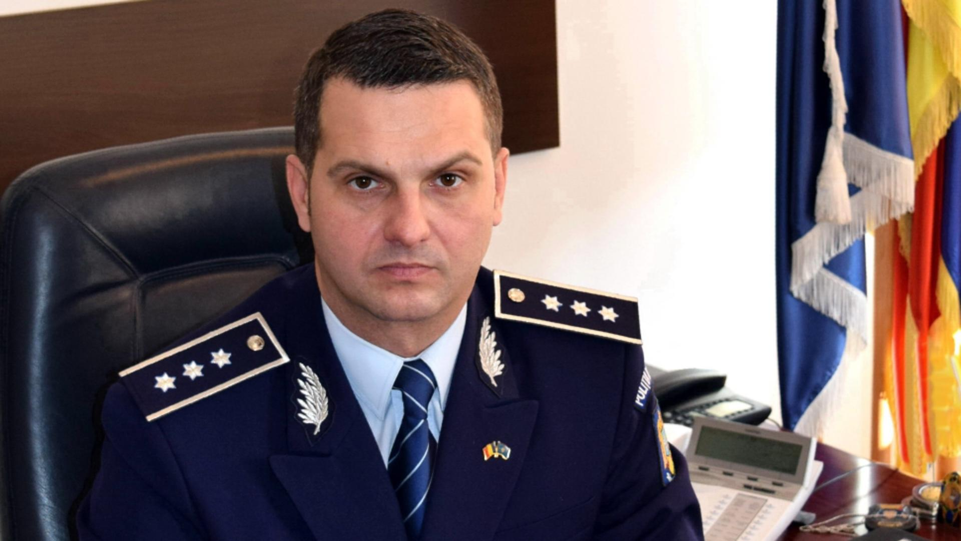 Comisarul-șef Bogdan Berechet - șef plin al Poliției Capitalei după ce a câștigat postul prin concurs
