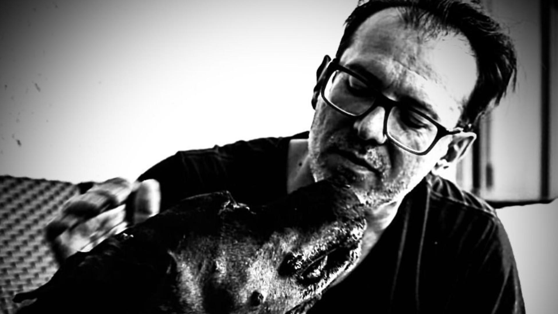 Florin Cițu și câine său (foto: FB )