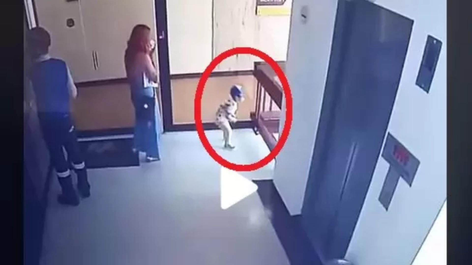 Copil salvat in ultima clipa