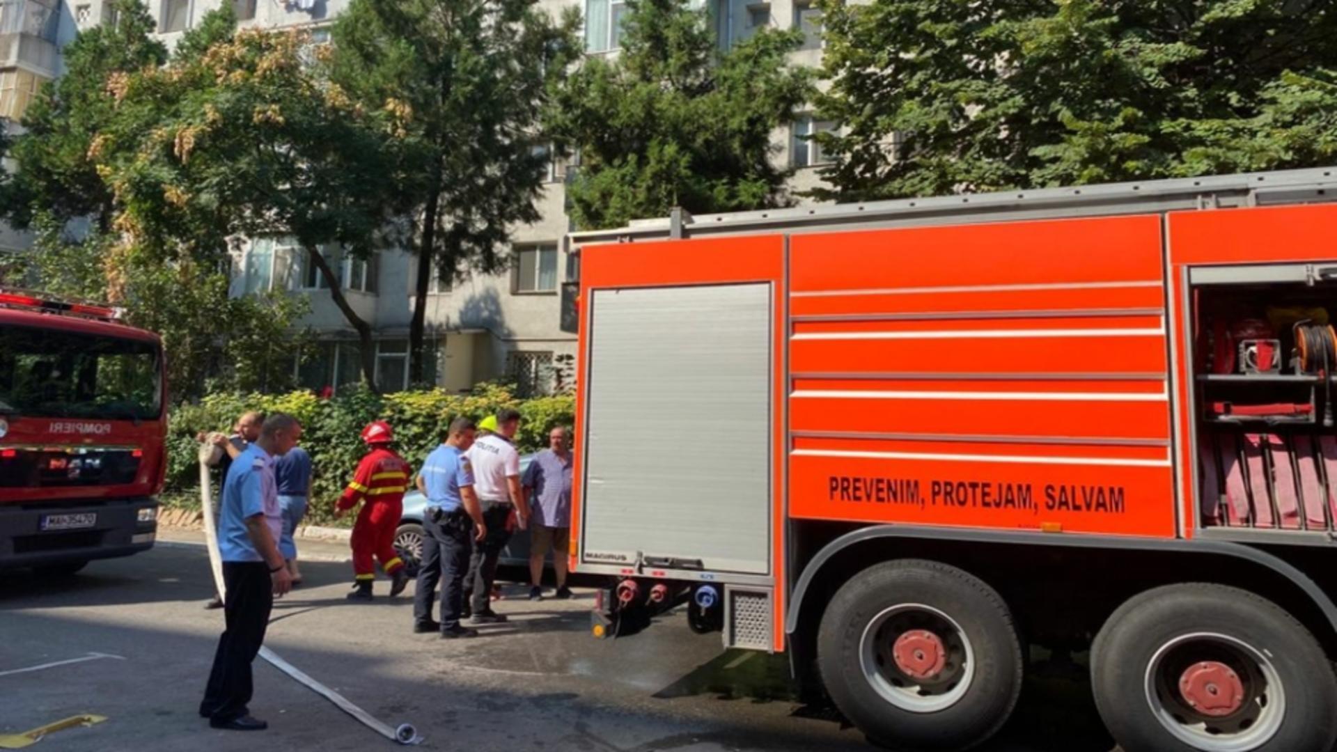 Intervenție pompieri incendiu