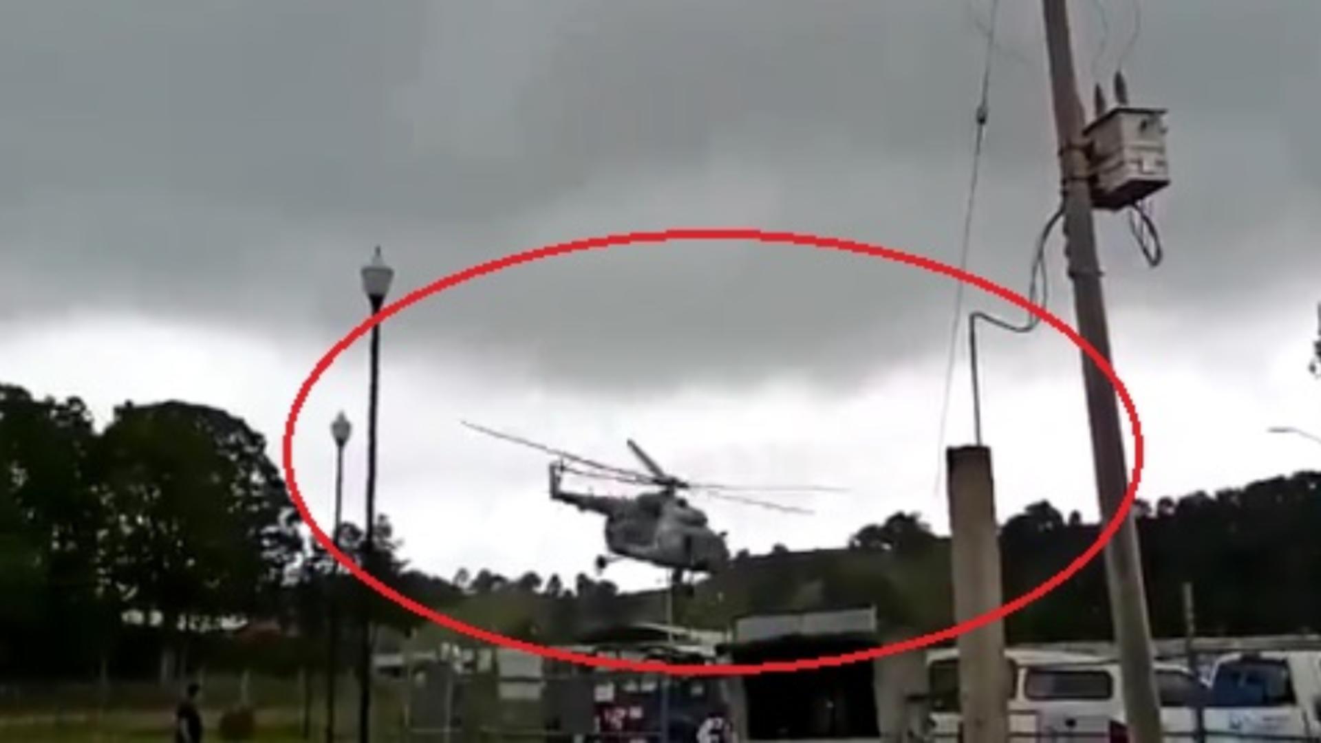 Elicopter prăbușit, în Mexic. Ministrul de Interne era la bord