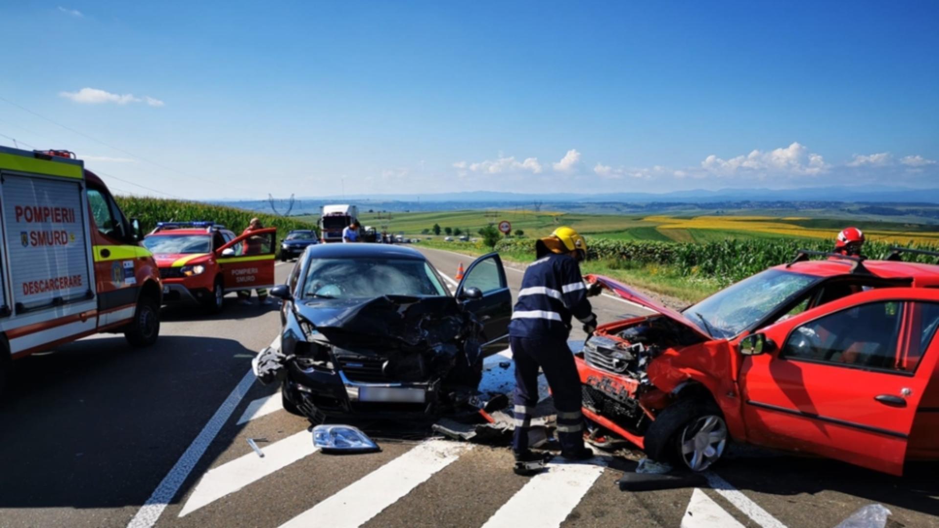 Accident rutier cu 4 victime în jud. Suceava