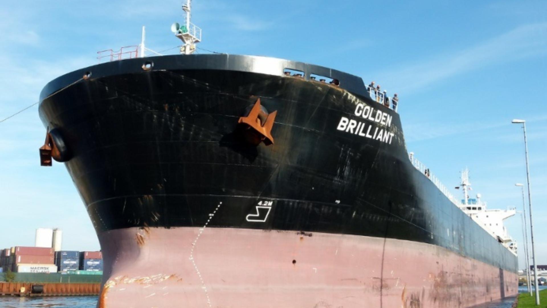 Golden Brilliant, una dintre navele implicate în incidentele din Golful Oman