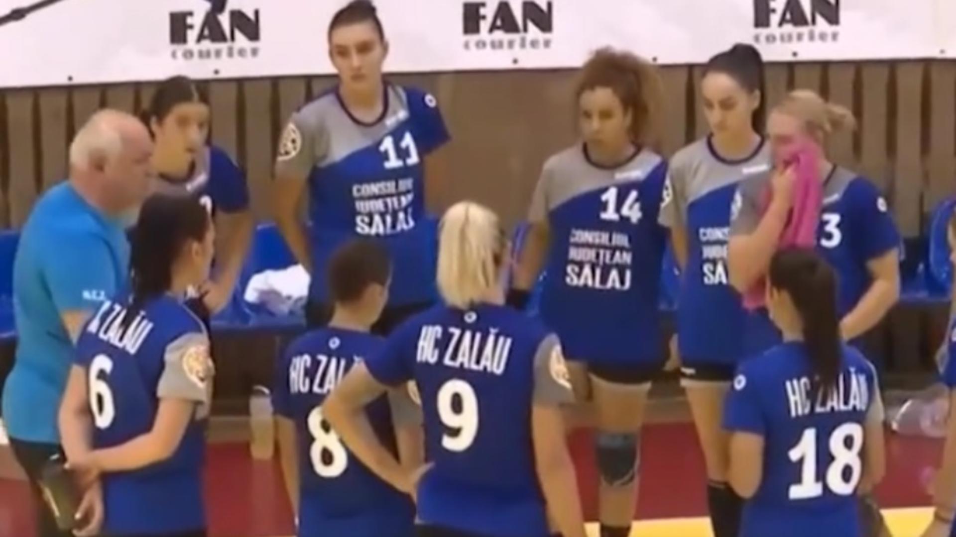 Antrenorul de handbal Gheorghe Tadici le-a adresat jigniri jucătoarelor de la Zalău