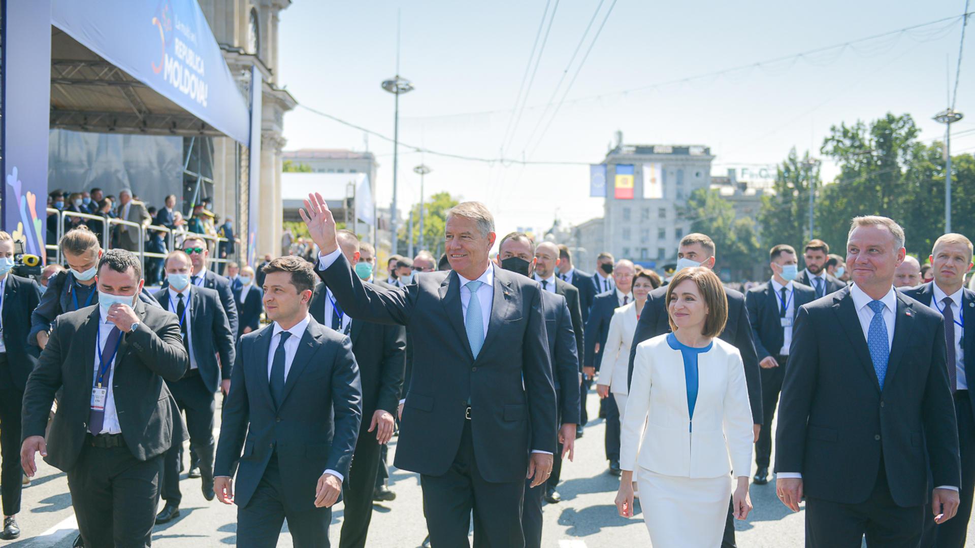 4 șefi de stat prezenți la ceremoniile de la Chișinău