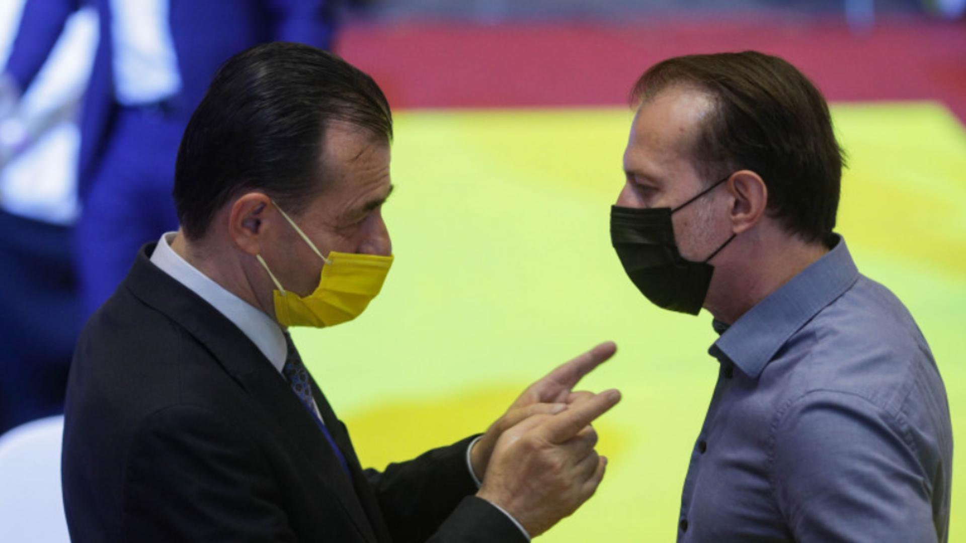 Ludovic Orban și Florin Cîțu Foto: INQUAM/Octav Ganea