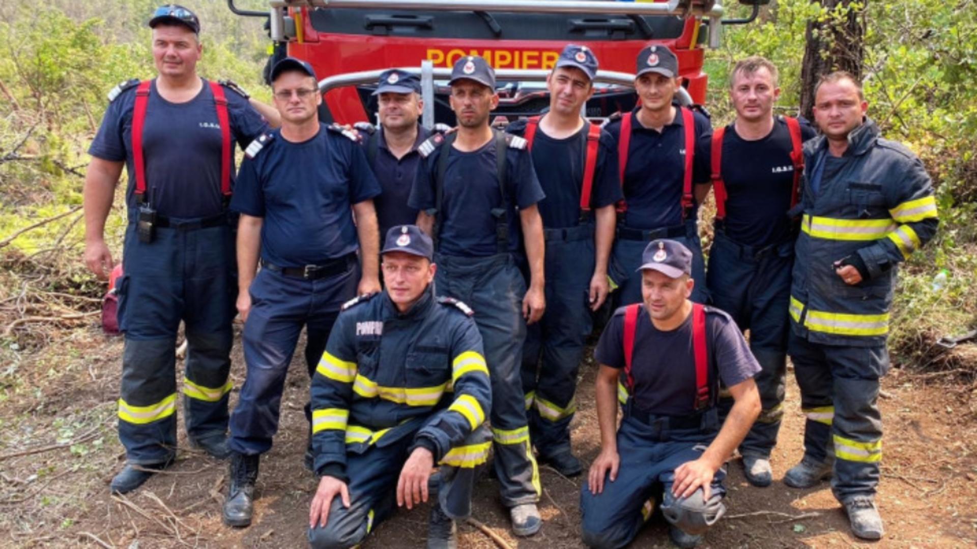 Misiune neprevăzută în România a pompierilor care s-au luptat cu incendiile din Grecia Foto: ISU Buzău