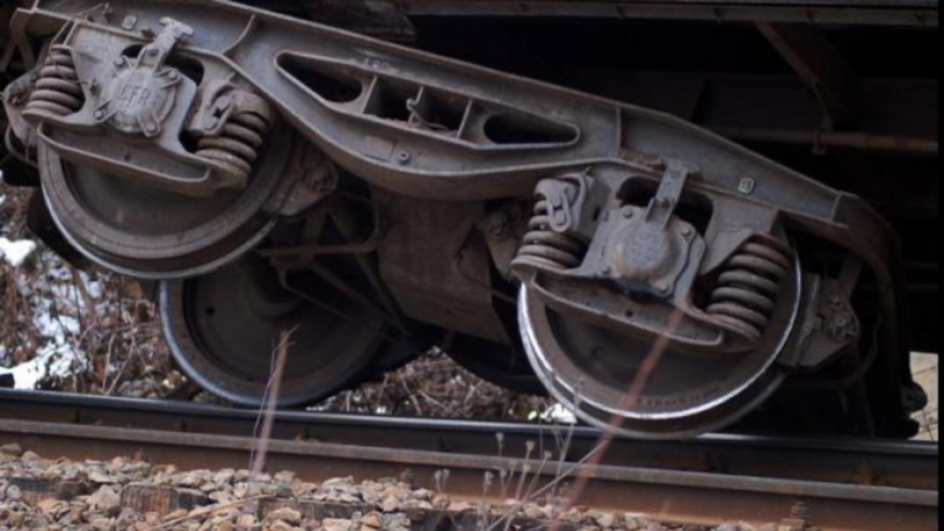 Vagon deraiat în zona Balota (arhivă)