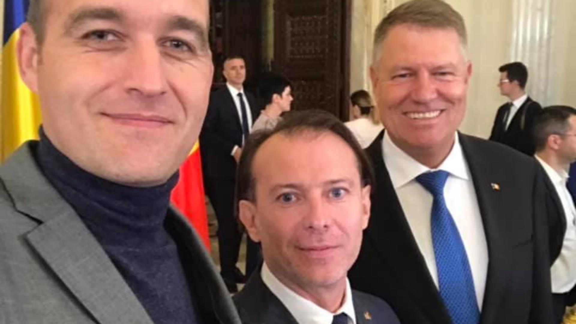 Dan Vîlceanu, ministrul Finanțelor, alături de Florin Cîțu și Klaus Iohannis