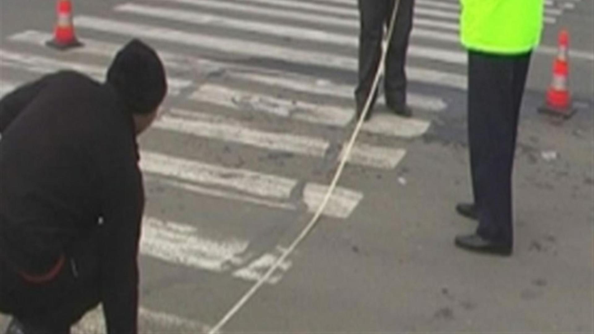Măsurători trecere de pietoni accident rutier