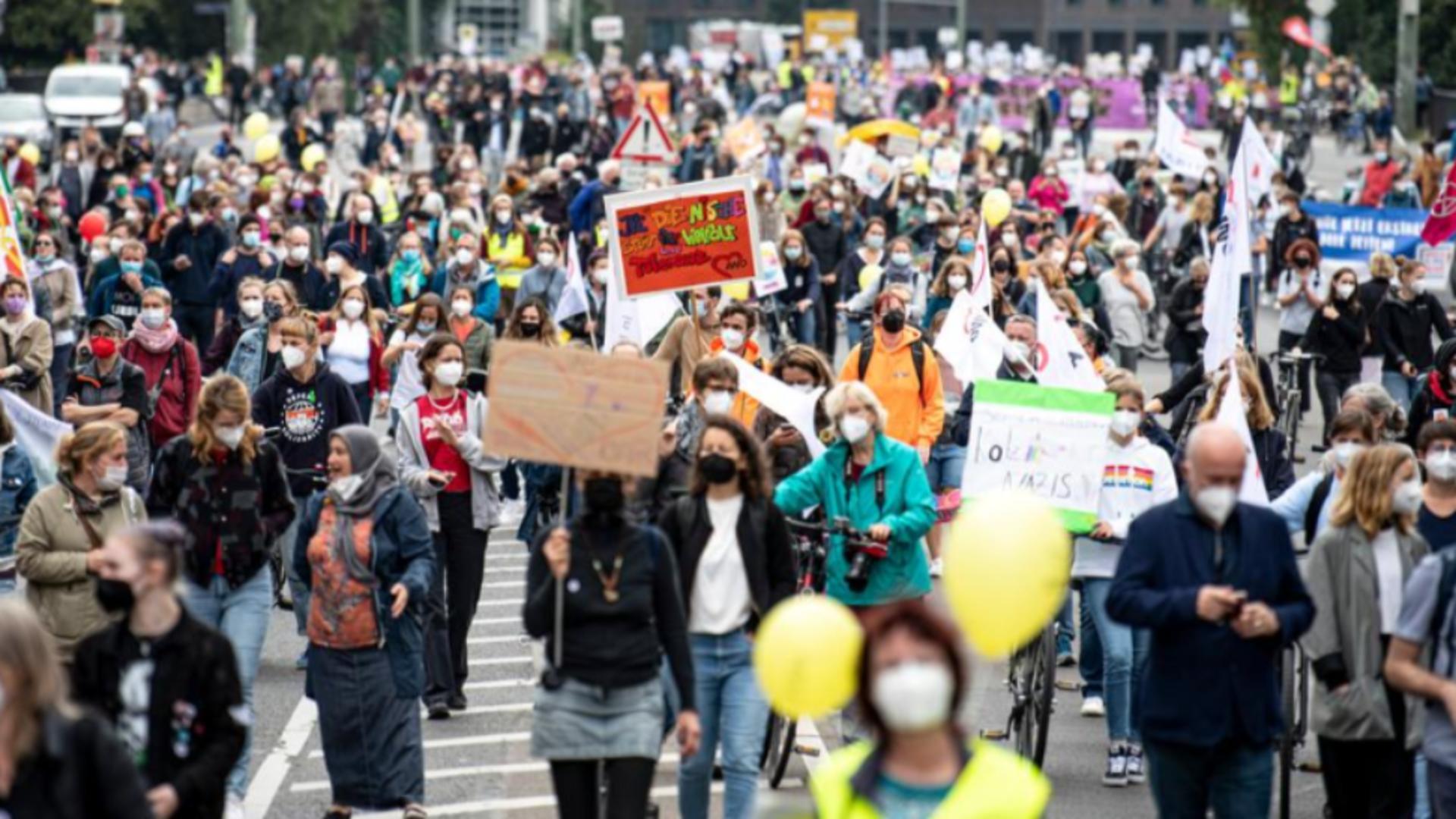 Protest Berlin, Germania / Captură foto TRTWorld